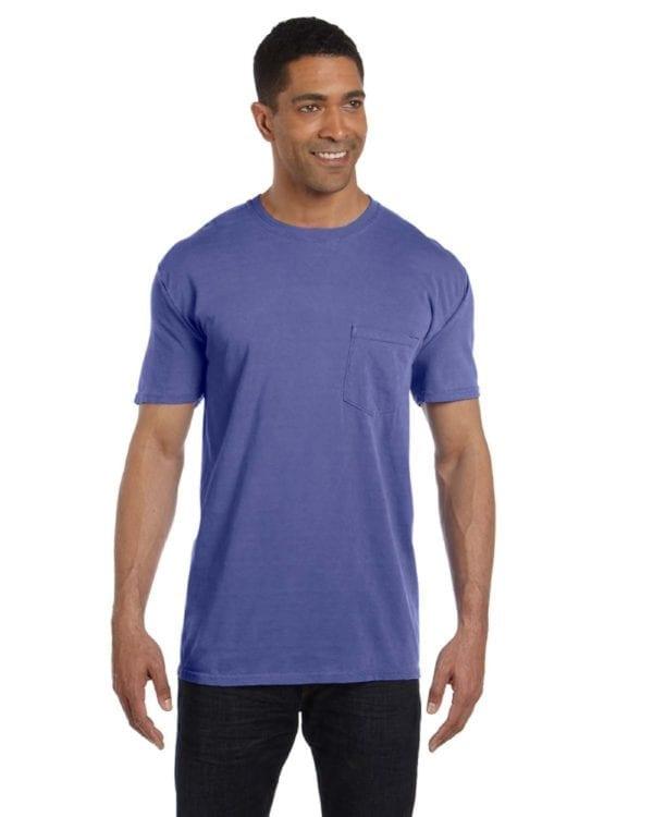 bulk custom shirts comfort colors 6030cc heavyweight rs custom pocket t shirt purple