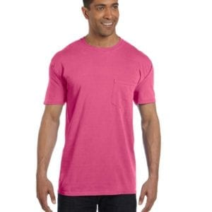 bulk custom shirts comfort colors 6030cc heavyweight rs custom pocket t shirt raspberry