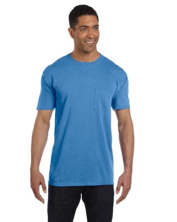 bulk custom shirts comfort colors 6030cc heavyweight rs custom pocket t shirt royal caribbean