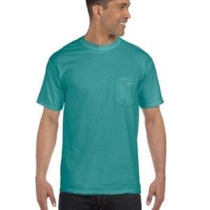 bulk custom shirts comfort colors 6030cc heavyweight rs custom pocket t shirt seafoam