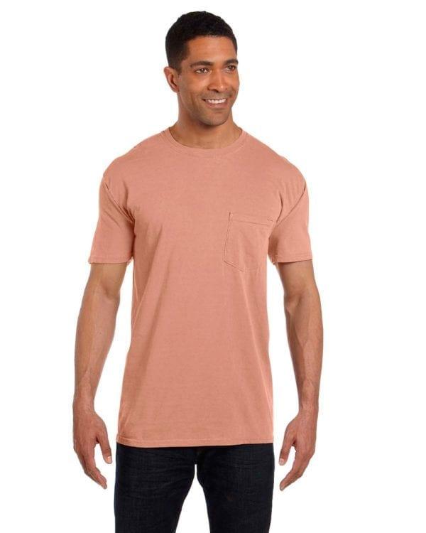 bulk custom shirts comfort colors 6030cc heavyweight rs custom pocket t shirt terracota