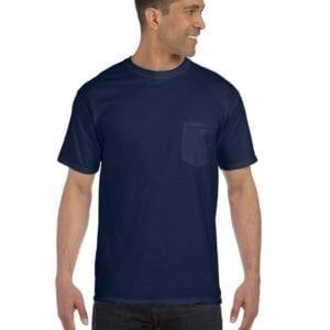 bulk custom shirts comfort colors 6030cc heavyweight rs custom pocket t shirt true navy