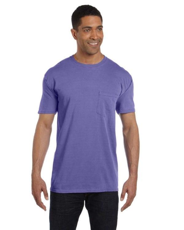 bulk custom shirts comfort colors 6030cc heavyweight rs custom pocket t shirt violet