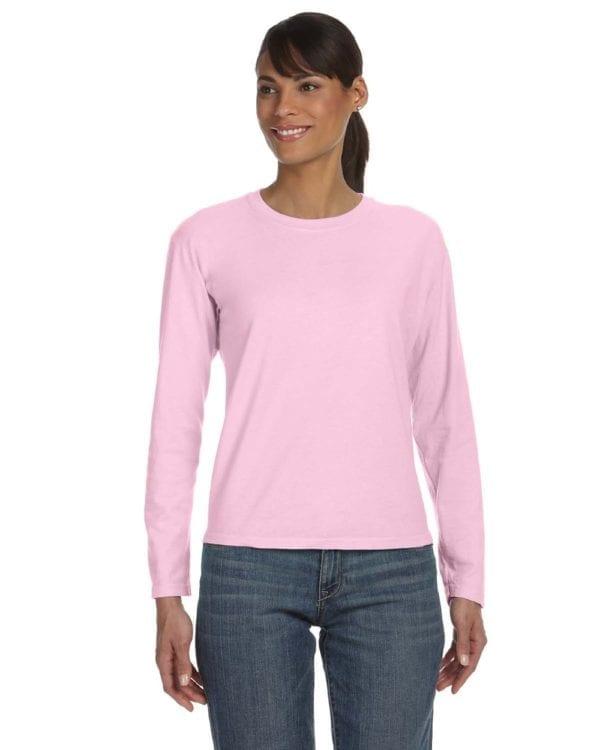 bulk custom shirts comfort colors c3014 custom ladies long sleeve shirt blossom