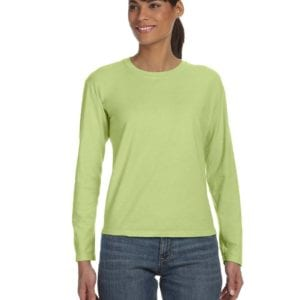 bulk custom shirts comfort colors c3014 custom ladies long sleeve shirt celedon