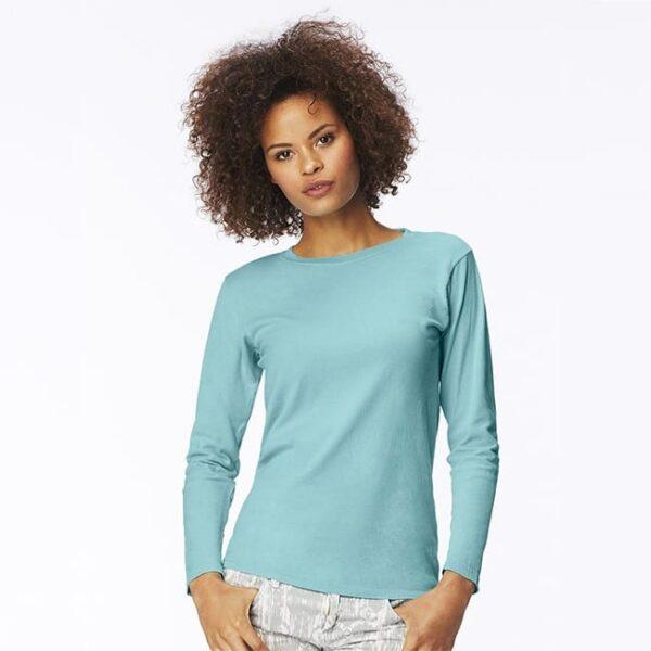 bulk custom shirts comfort colors c3014 custom ladies long sleeve shirt cover