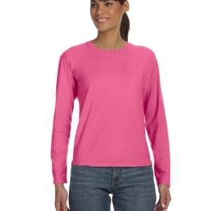 bulk custom shirts comfort colors c3014 custom ladies long sleeve shirt crunchberry