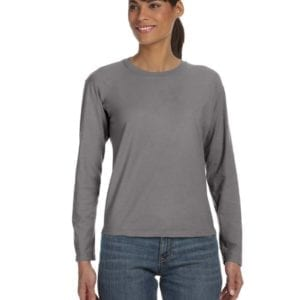 bulk custom shirts comfort colors c3014 custom ladies long sleeve shirt grey