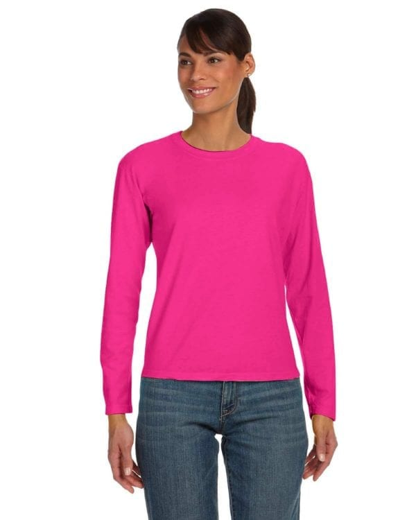 bulk custom shirts comfort colors c3014 custom ladies long sleeve shirt heliconia