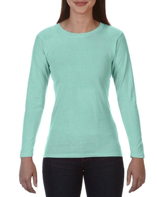 bulk custom shirts comfort colors c3014 custom ladies long sleeve shirt island reef