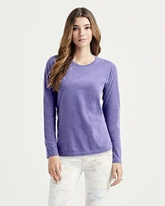 bulk custom shirts comfort colors c3014 custom ladies long sleeve shirt model