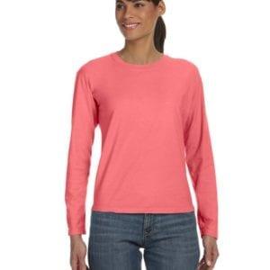 bulk custom shirts comfort colors c3014 custom ladies long sleeve shirt neon red orange