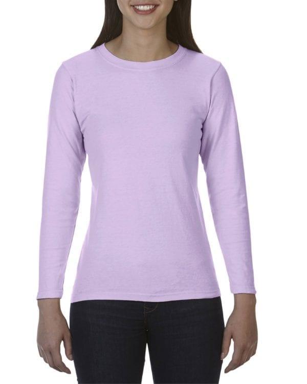 bulk custom shirts comfort colors c3014 custom ladies long sleeve shirt orchid