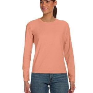 bulk custom shirts comfort colors c3014 custom ladies long sleeve shirt terracota