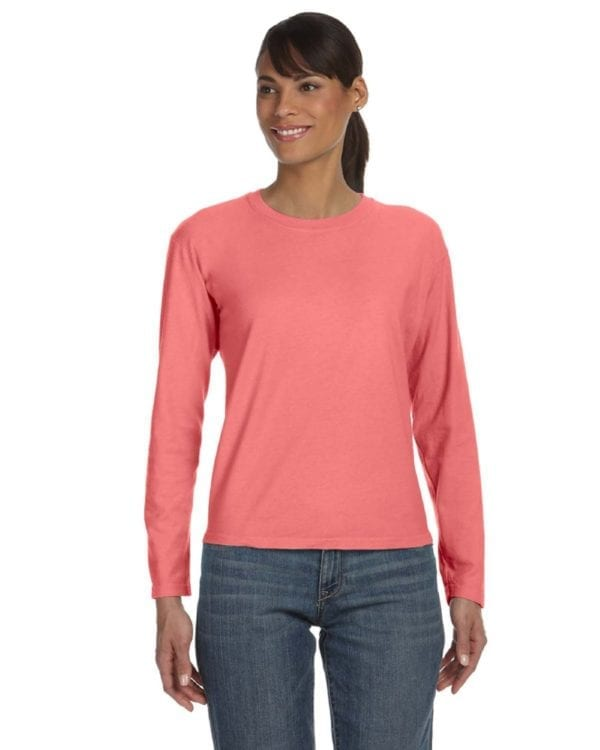 bulk custom shirts comfort colors c3014 custom ladies long sleeve shirt watermelon