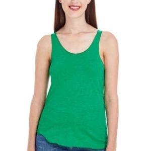 bulk custom shirts custom american apparel bb308w ladies poly cotton racerback custom tank heather kelly green