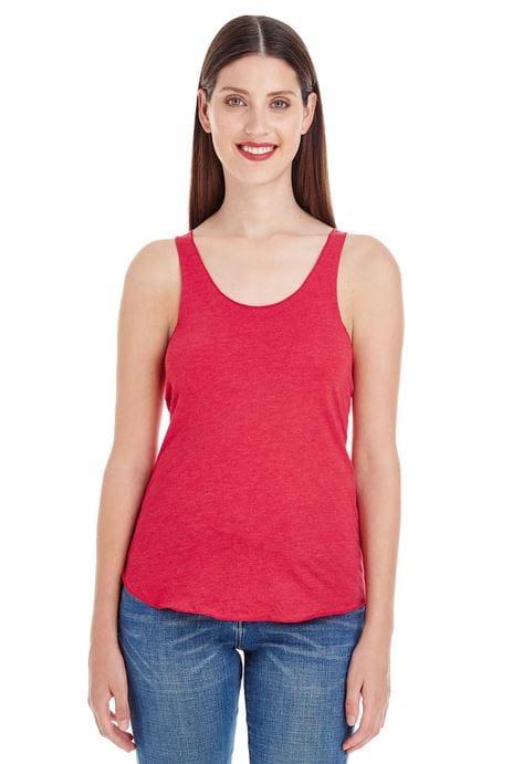 bulk custom shirts custom american apparel bb308w ladies poly cotton racerback custom tank heather red