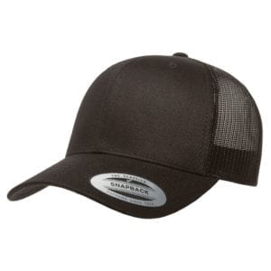 bulk custom shirts - custom hats yupoong 6606 custom retro trucker snapback cap black