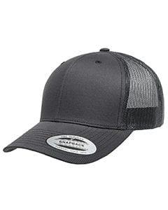 bulk custom shirts - custom hats yupoong 6606 custom retro trucker snapback cap charcoal