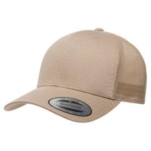 bulk custom shirts - custom hats yupoong 6606 custom retro trucker snapback cap khaki