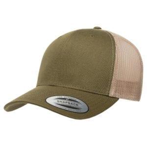 bulk custom shirts - custom hats yupoong 6606 custom retro trucker snapback cap moss khaki