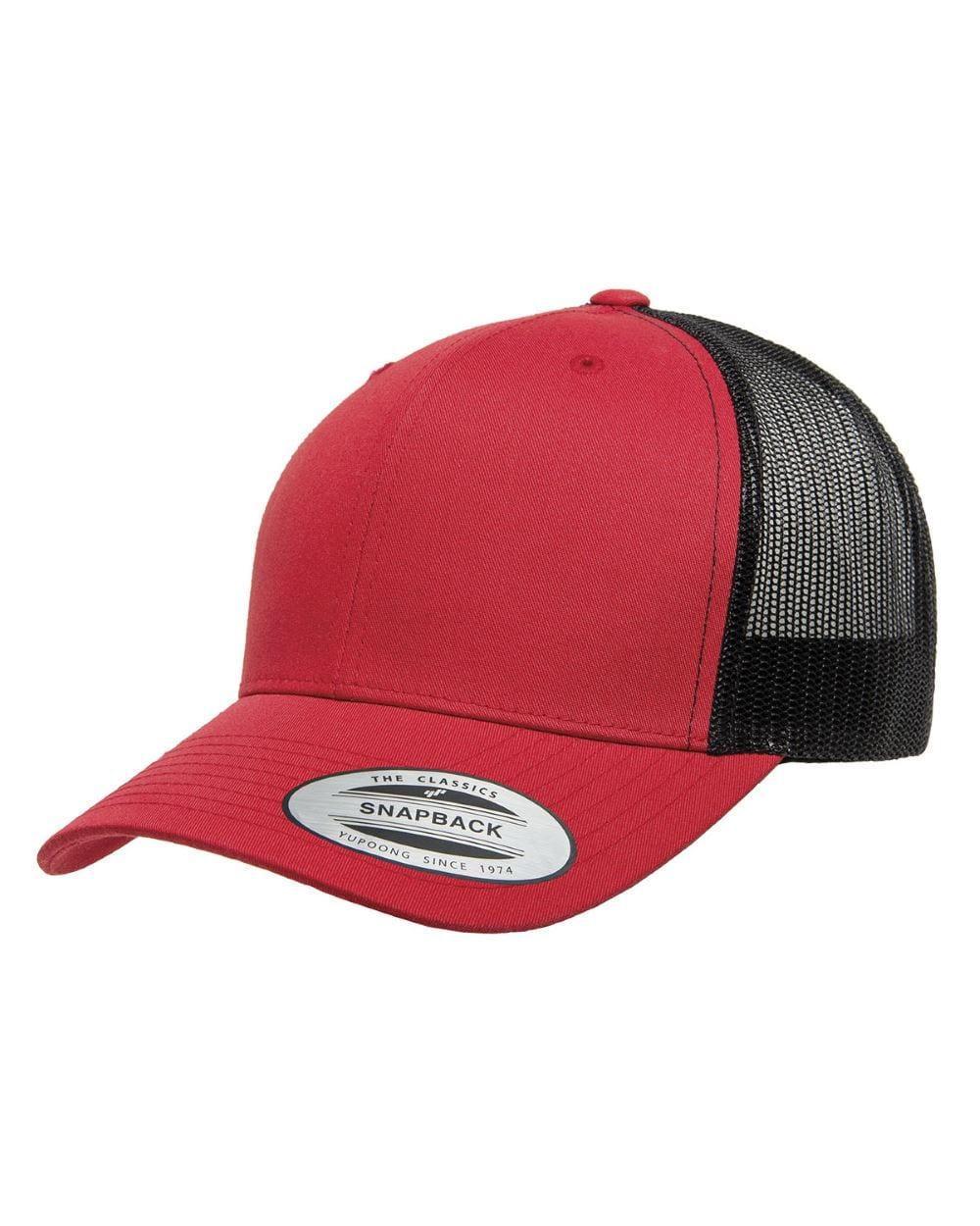 ac7206fd801f8 bulk custom shirts - custom hats yupoong 6606 custom retro trucker snapback  cap red black