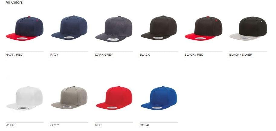 5f2c51fcc Yupoong Y6007 Snapback Cap 5-Panel Cotton Twill - Bulk Custom Shirts