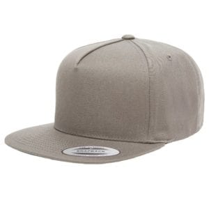bulk custom shirts - custom hats yupoong y6007 custom 5 panel twill snapback cap grey
