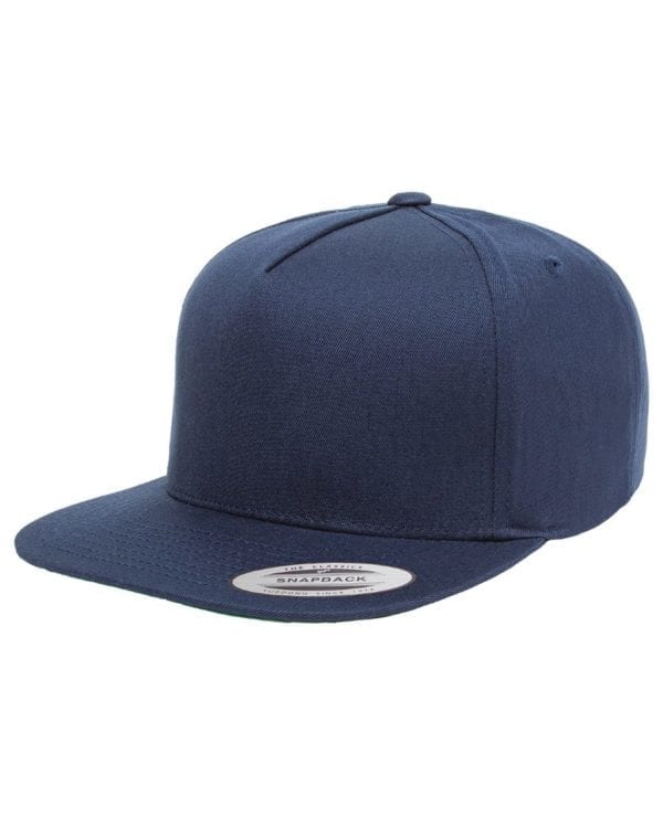 bulk custom shirts - custom hats yupoong y6007 custom 5 panel twill snapback cap navy