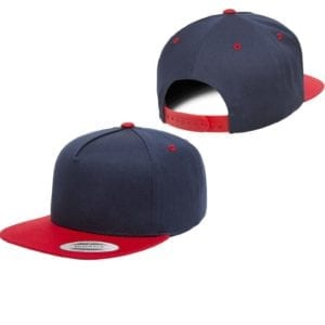 bulk custom shirts - custom hats yupoong y6007 custom 5 panel twill snapback cap navy red front back
