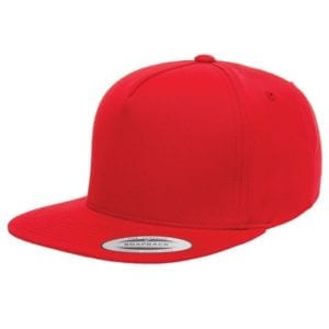 bulk custom shirts - custom hats yupoong y6007 custom 5 panel twill snapback cap red