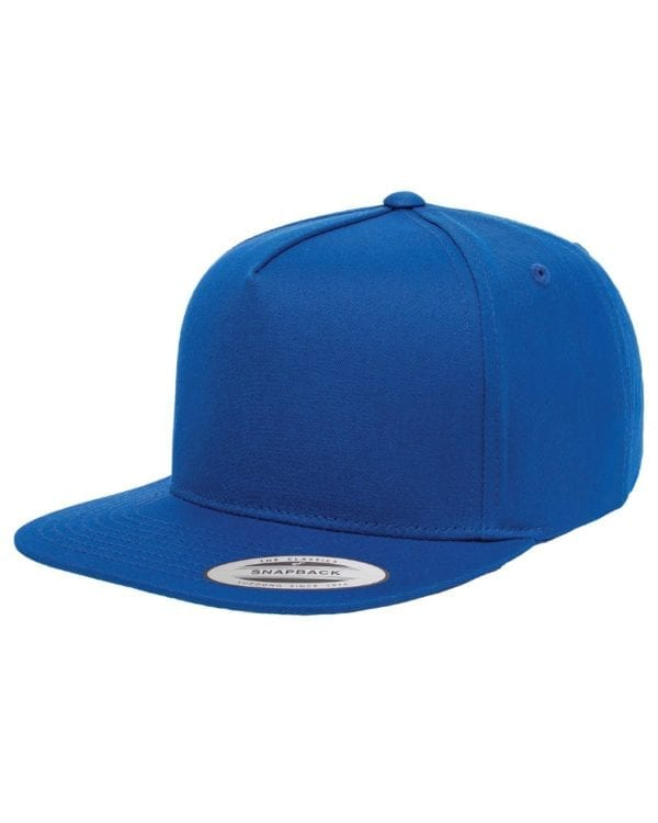bulk custom shirts - custom hats yupoong y6007 custom 5 panel twill snapback cap royal