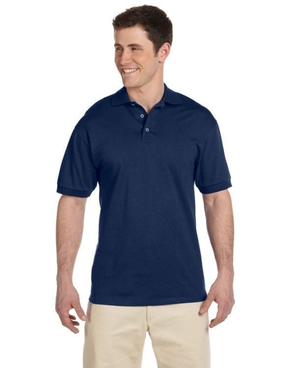bulk custom shirts custom polo jerzees j100 cotton polo j navy