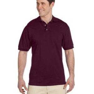 bulk custom shirts custom polo jerzees j100 cotton polo maroon