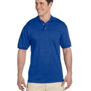 bulk custom shirts custom polo jerzees j100 cotton polo royal