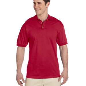 bulk custom shirts custom polo jerzees j100 cotton polo true red