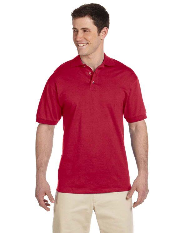 bulk custom shirts custom polo jerzees j100 cotton polo true red