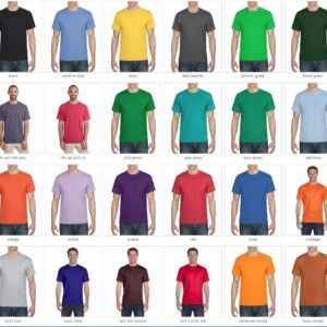 bulk custom shirts gilda g800 50-50 5.5oz custom t shirt colors