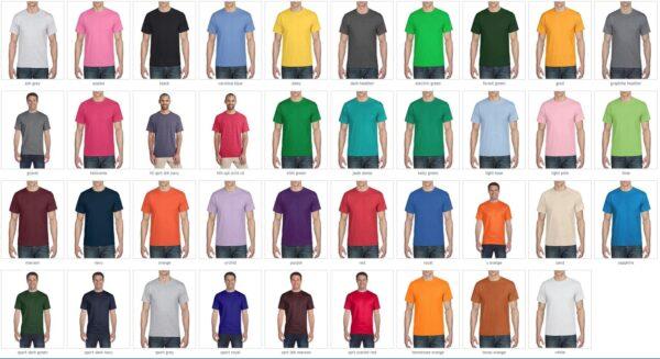 bulk custom shirts gilda g800 50-50 5.5oz custom t shirt colors