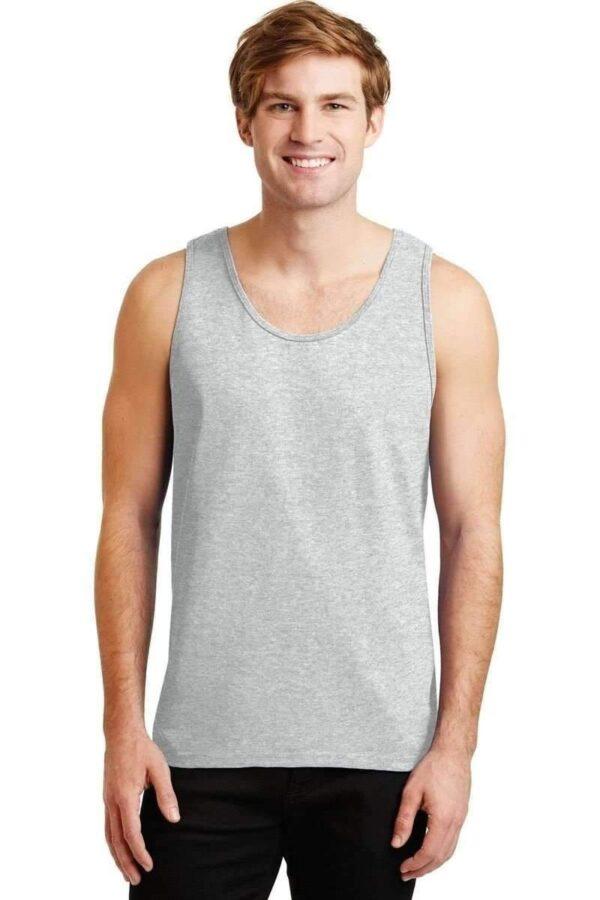 bulk custom shirts gildan g220 adult ultra cotton 6 oz personlized custom tank top ash grey