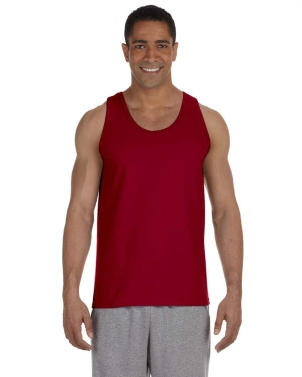 bulk custom shirts gildan g220 adult ultra cotton 6 oz personlized custom tank top cardinal red