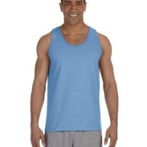 bulk custom shirts gildan g220 adult ultra cotton 6 oz personlized custom tank top carolina blue
