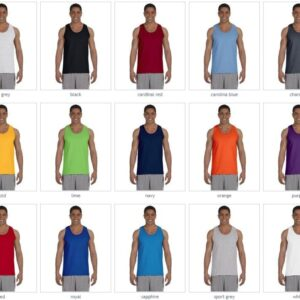bulk custom shirts gildan g220 adult ultra cotton 6 oz personlized custom tank top colors