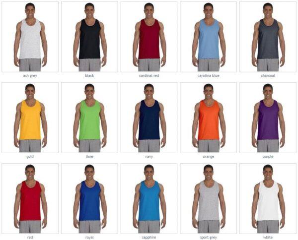 bulk custom shirts gildan g220 adult ultra cotton 6 oz personlized custom tank top colors