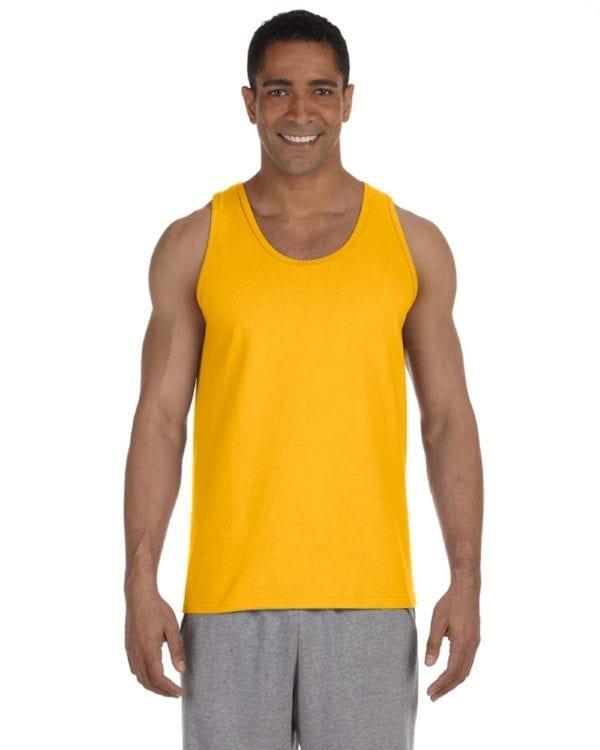bulk custom shirts gildan g220 adult ultra cotton 6 oz personlized custom tank top gold