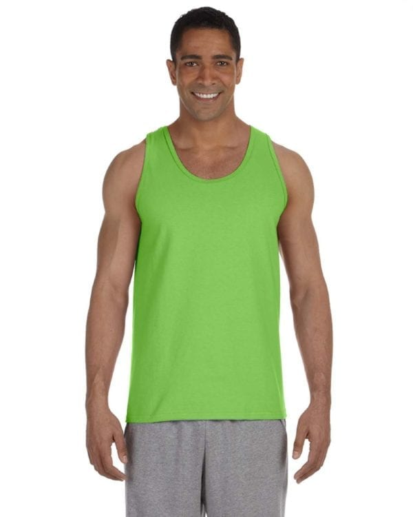 bulk custom shirts gildan g220 adult ultra cotton 6 oz personlized custom tank top lime
