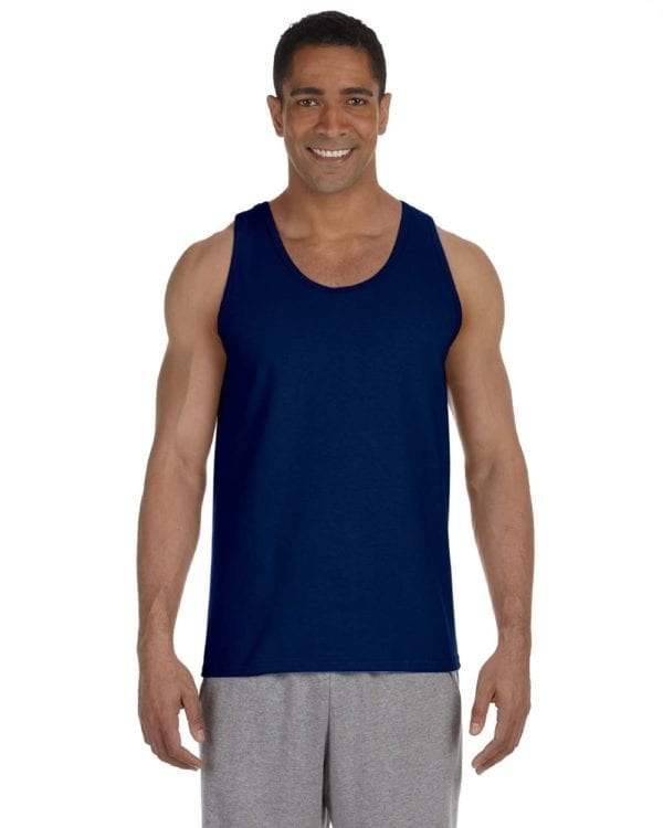 bulk custom shirts gildan g220 adult ultra cotton 6 oz personlized custom tank top navy