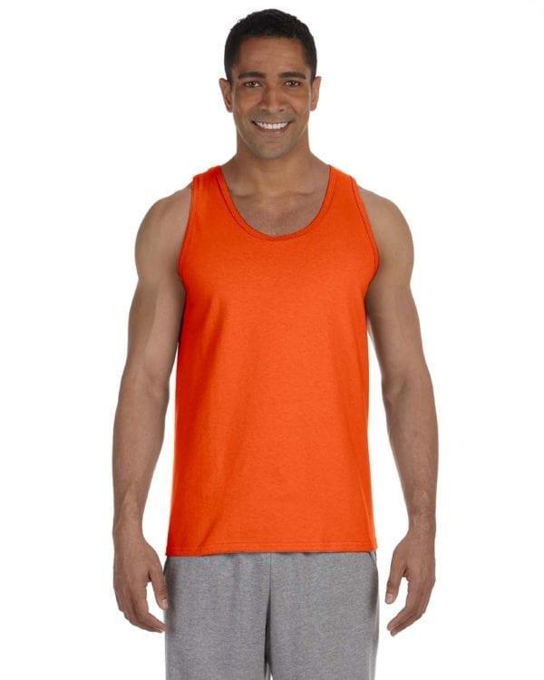 bulk custom shirts gildan g220 adult ultra cotton 6 oz personlized custom tank top orange