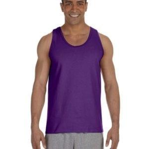bulk custom shirts gildan g220 adult ultra cotton 6 oz personlized custom tank top purple