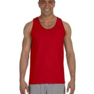 bulk custom shirts gildan g220 adult ultra cotton 6 oz personlized custom tank top red